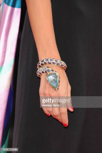 Roberta Ruiu bracelet detail walks the red carpet ahead of the 'The Sisters Brothers' screening during the 75th Venice Film Festival at Sala Grande...