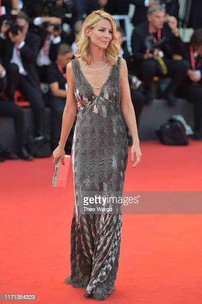 Roberta Ruiu walks the red carpet ahead of the Joker screening during the 76th Venice Film Festival at Sala Grande on August 31 2019 in Venice Italy