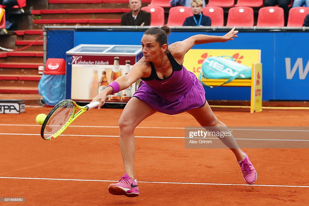 Roberta Vinci of Italy in action during day four of the Nuernberger Versicherungscup 2016 on May 17, 2016 in Nuremberg, Germany.