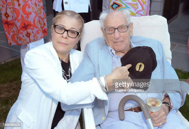 Roberta Wallach and Eli Wallach attend the Hamptons Magazine Supports The Rickel Foundation Teaching Scholarship on July 22, 2012 in Wainscott, New...
