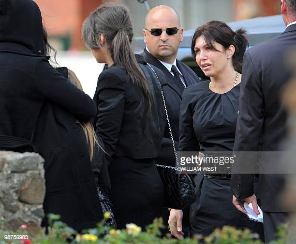 Roberta Williams , ex-wife of slain gangland killer Carl Williams arrives for the funeral service, in Melbourne on April 30, 2010. Carl Williams was...