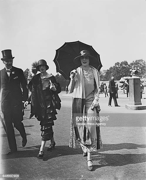 Roberte Ponsonby Countess of Bessborough attending a garden party at Buckingham Palace London 26th June 1924 At centre is a female member of the...