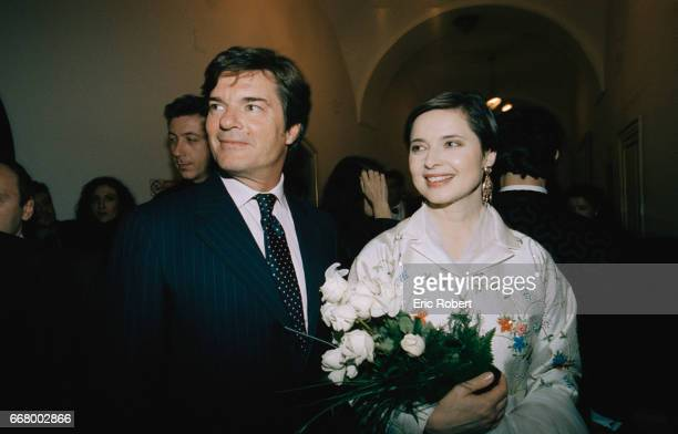 Robertino Rosselini joins his sister, actress Isabella Rosselini, at the premiere of the operas Oedipus Rex by Igor Stravinsky and Jean Cocteau and...