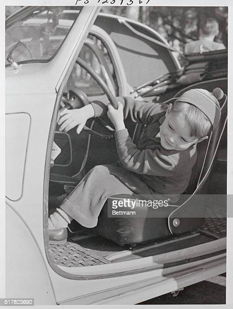 Robertino Rossellini son of actress Ingrid Bergman and her director husband Roberto Rossellini driving a vehicle in Naples Italy