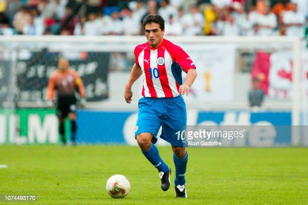Roberto ACUNA during the FIFA World Cup match between Germany and Paraguay on June 15 2002 in Jeju Stadium South Korea