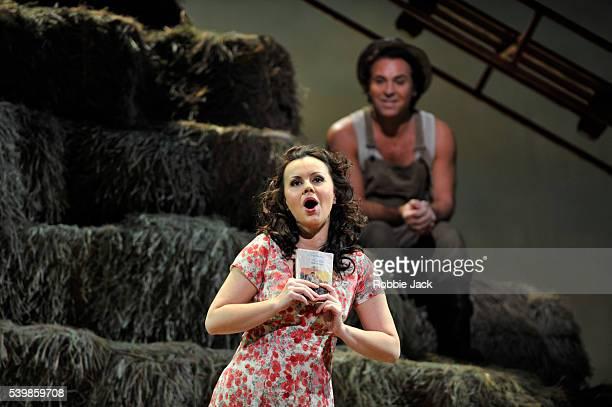 Roberto Alagna as Nemorino and Aleksandra Kurzak as Adina in the Royal Opera's production of Gaetano Donizetti's L'Elisir D' Amore directed by...