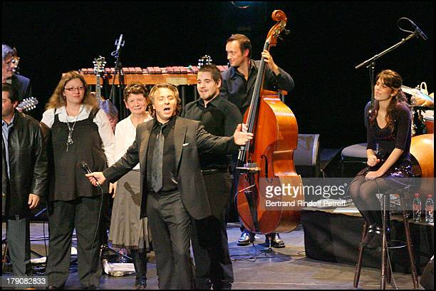 "Roberto Alagna, daughter Ornella and Yvan Cassar at ""Sicilien"" - Tenor Roberto Alagna Performs Traditional Sicilian Songs At L'Olympia."
