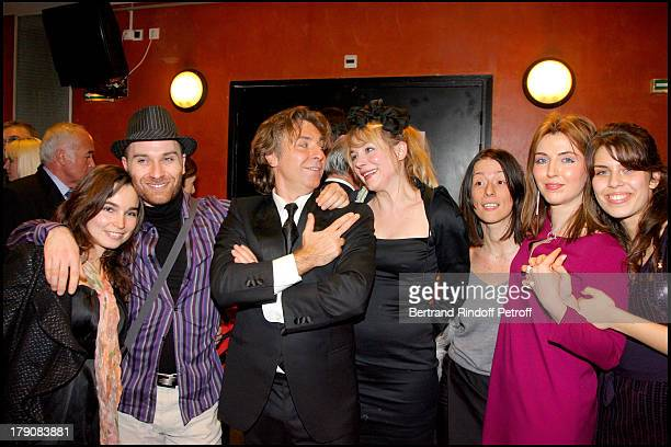 "Roberto Alagna, his brother Frederico , Julie Depardieu, Marinella Alagna and Ornella Alagna at ""Sicilien"" - Tenor Roberto Alagna Performs..."