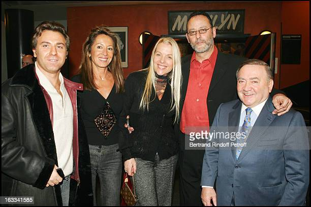 Roberto Alagna Nicole Coullier Jean Reno Levon Sayan and wife at Laurent Gerra Hosts The Television Show Flingue La Tele at L' Olympia