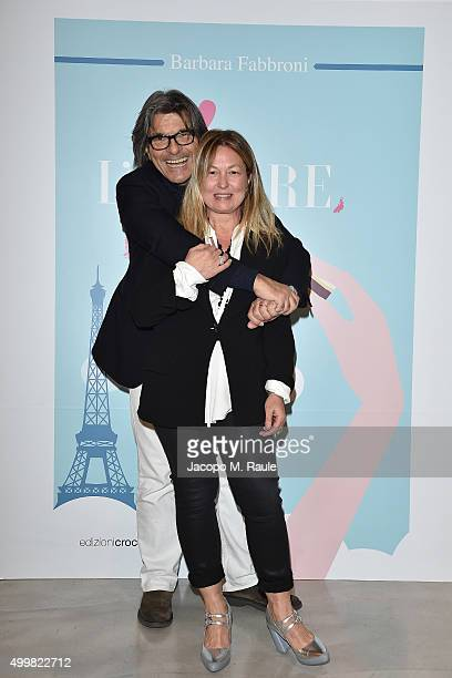 Roberto Alessi and Barbara Fabbroni attend the book presentation of 'L'AMORE FORSE' by Barbara Fabbroni on December 3 2015 at the Maryling Concept...