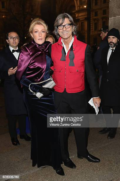 Roberto Alessi and Betta Guerreri arrive at the Teatro alla Scala Season 2016/17 opening at Teatro Alla Scala on December 7 2016 in Milan Italy
