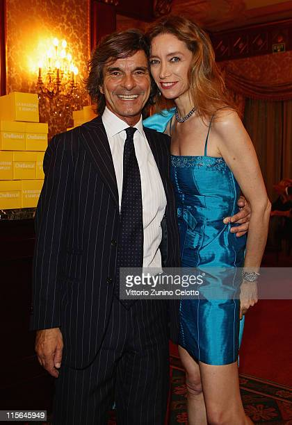 Roberto Alessi and Laura Teso attend 2011 Fondazione Umberto Veronesi Gala Dinner on June 8 2011 in Milan Italy