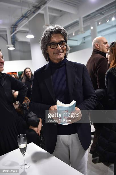Roberto Alessi attends the book presentation of 'L'AMORE FORSE' by Barbara Fabbroni on December 3 2015 at the Maryling Concept Store in Milan Italy