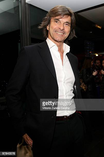 Roberto Alessi attends the Vivienne Westwood Charity Cocktail 'Fashion For Relief' held at Hotel Baglioni on March 18 2010 in Milan Italy