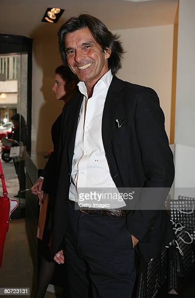 Roberto Alessi attends 'Tracce Mobili' hosted by Fratelli Rossetti Boutique on Aprl 16 2008 in Milan Italy