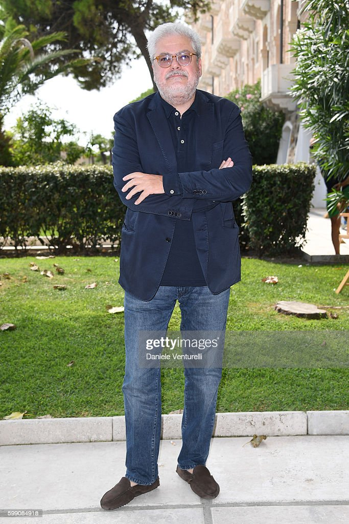 Roberto Ando poses after the Kineo Diamanti Award press conference during the 73rd Venice Film Festival at on September 4, 2016 in Venice, Italy.