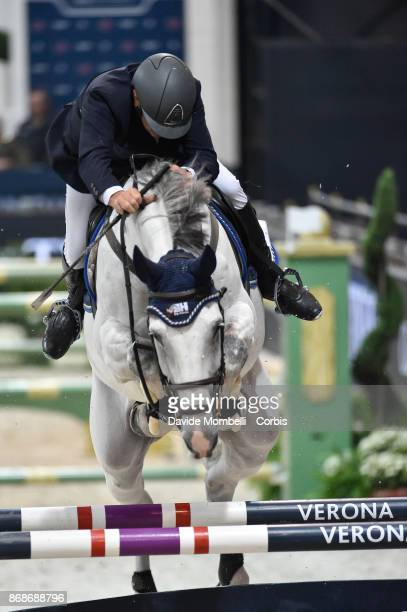 Roberto Arioldi of Italy riding Dundee vh Marienshof during the Longines FEI World Cup presented CSI5 by FRANCO TUCCI on October 28 2017 in Verona...