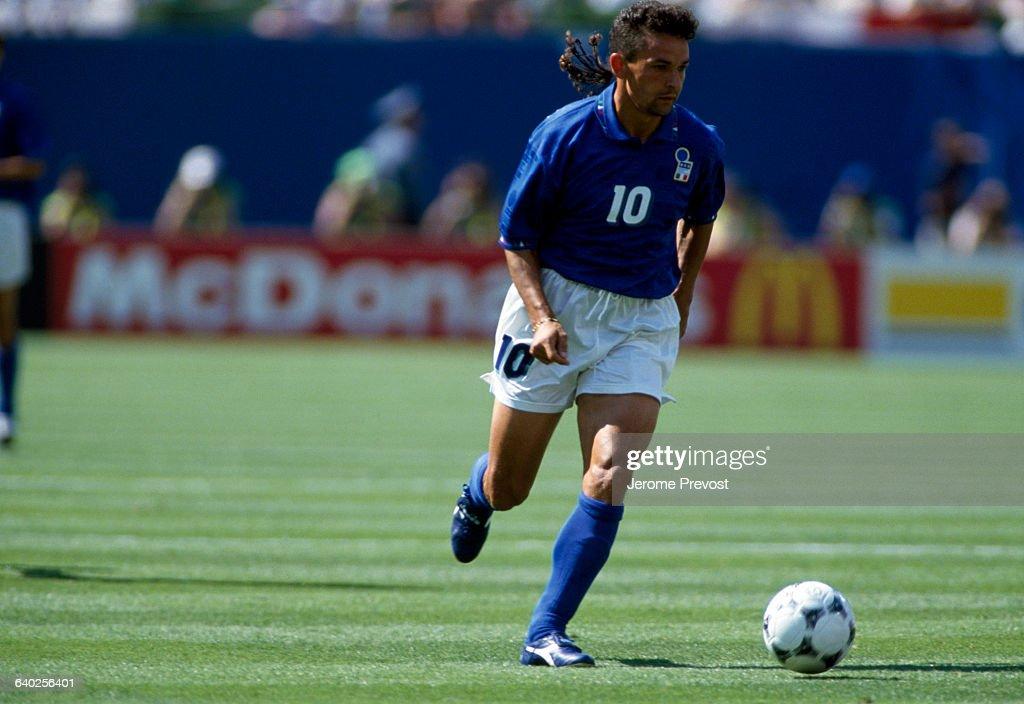 Italian Soccer Player Roberto Baggio : News Photo