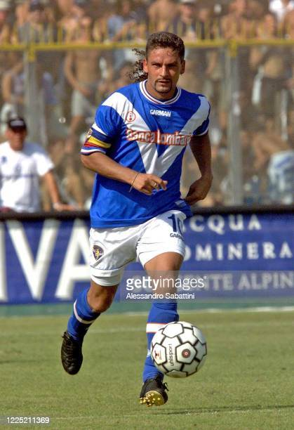 Roberto Baggio of Brescia Calcio in action during the Serie A 2001-02, Italy.