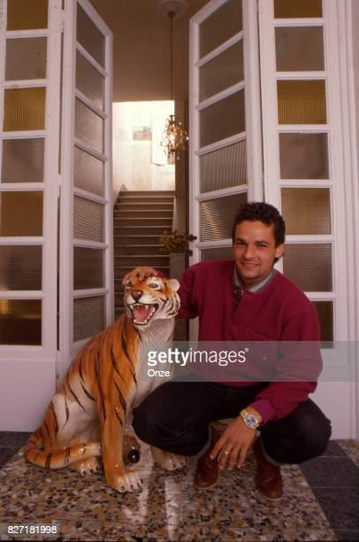 Roberto Baggio of Juventus during a photoshoot in Turin Italy on 12th December 1994
