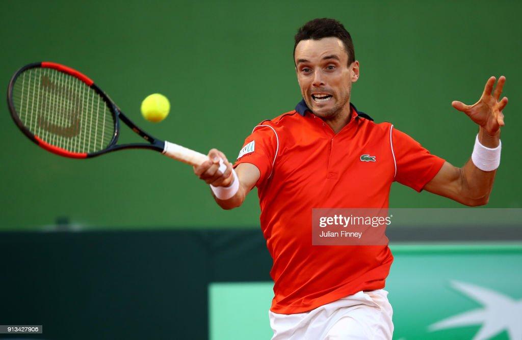 Spain v Great Britain - Davis Cup by BNP Paribas World Group First Round - Day 1 : Fotografía de noticias