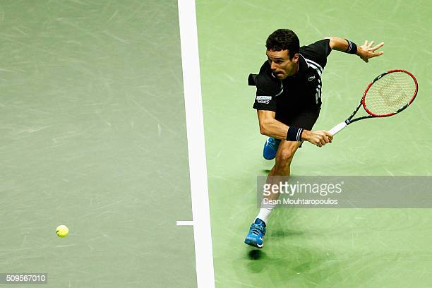 Roberto Bautista Agut of Spain in action against Jiri Vesely of the Czech Republic during day 4 of the ABN AMRO World Tennis Tournament held at Ahoy...
