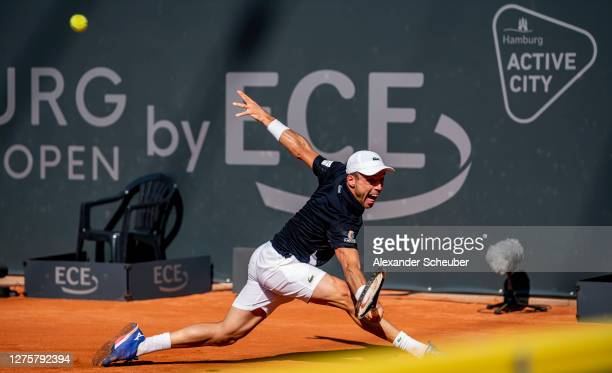 Roberto Bautista Agut of Spain in action during Round One of the Hamburg Open 2020 at Rothenbaum on September 22, 2020 in Hamburg, Germany.