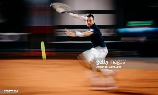 Roberto Bautista Agut of Spain in action during Round One of the Hamburg European Open 2020 at Rothenbaum on September 23, 2020 in Hamburg, Germany.