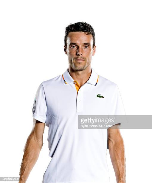 Roberto Bautista Agut of Spain poses for portraits during the Australian Open at Melbourne Park on January 14 2018 in Melbourne Australia