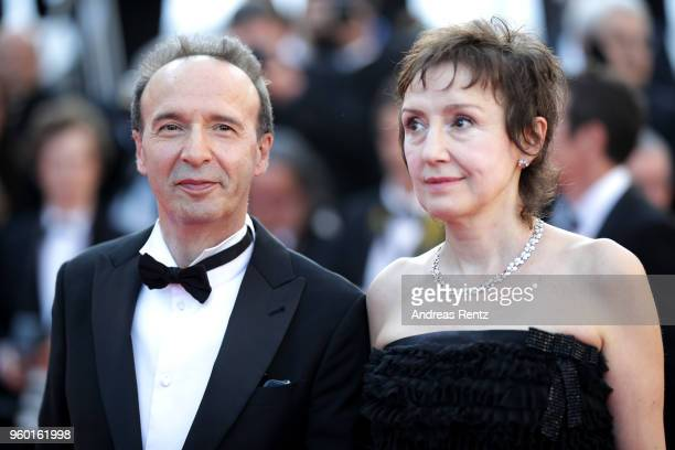"""Roberto Benigni and Nicoletta Braschi attend the Closing Ceremony & screening of """"The Man Who Killed Don Quixote"""" during the 71st annual Cannes Film..."""