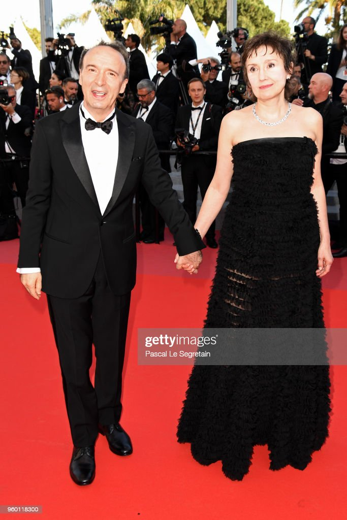 Roberto Benigni and Nicoletta Braschi attends the Closing Ceremony & screening of 'The Man Who Killed Don Quixote' during the 71st annual Cannes Film Festival at Palais des Festivals on May 19, 2018 in Cannes, France.