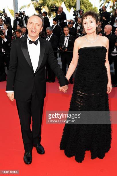 Roberto Benigni and Nicoletta Braschi attends the Closing Ceremony screening of The Man Who Killed Don Quixote during the 71st annual Cannes Film...