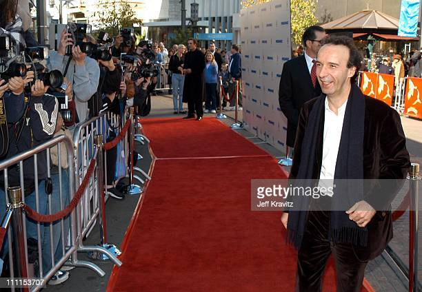 Roberto Benigni during Miramax Films Premiere of Pinnochio at The Grove in Los Angeles California United States