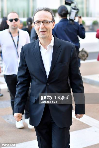 Roberto Benigni is seen during the 71st annual Cannes Film Festival at on May 17 2018 in Cannes France