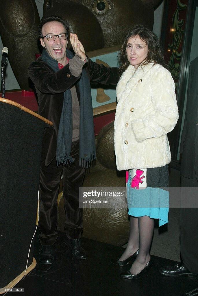 "Roberto Benigni & Nicoletta Braschi Light FAO Schwarz's ""Pinocchio"" Holiday Windows"