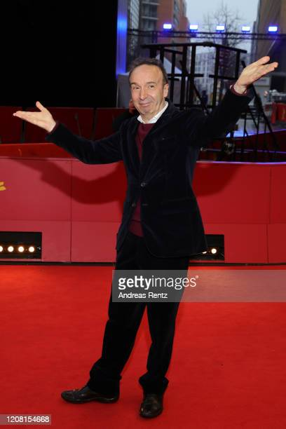 Roberto Benigni poses at the Pinocchio premiere during the 70th Berlinale International Film Festival Berlin at Berlinale Palast on February 23 2020...