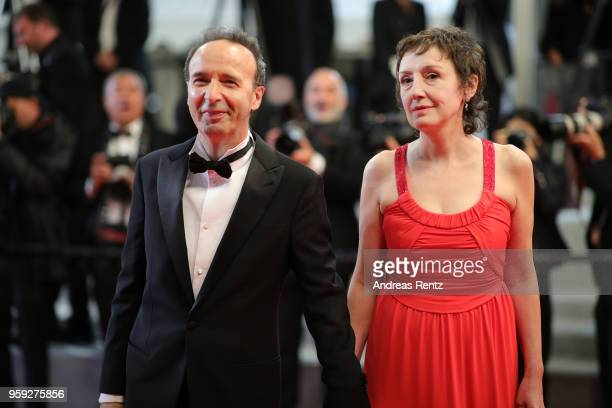 Roberto Benigni with his wife Nicoletta Braschi attend the screening of 'Dogman' during the 71st annual Cannes Film Festival at Palais des Festivals...