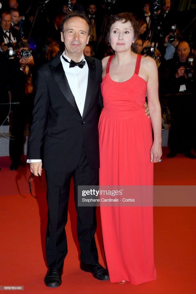 Roberto Benigni with his wife Nicoletta Braschi attends the screening of 'Dogman' during the 71st annual Cannes Film Festival at Palais des Festivals on May 16, 2018 in Cannes, France.
