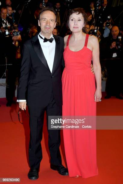 Roberto Benigni with his wife Nicoletta Braschi attends the screening of 'Dogman' during the 71st annual Cannes Film Festival at Palais des Festivals...