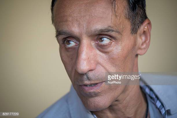 Roberto Berardi, Italian businessman arrested in Guinea, two years ago, back home in Latina, Italy July 14, 2015.