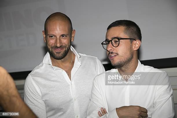 Roberto Bertolini and Andrea Pinna winners of 'Pechino Express' 2015 and hosts of its first spinoff 'Pechino Addicted' daily mustsee show on Rai4...