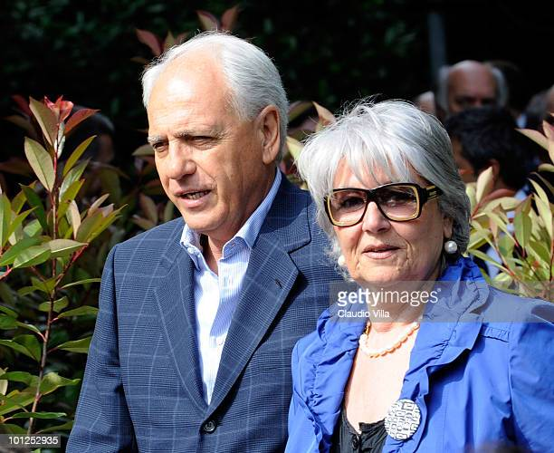 Roberto Bettega and Mariella Scirea during the Heysel commemorative ceremony on May 29 2010 in Turin Italy The ceremony remembers the disaster 25...