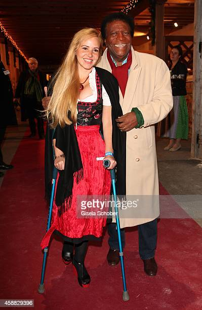Roberto Blanco and his wife Luzandra during the Opening of the Gut Aiderbichl Christmas Market on November 11 2014 in Henndorf am Wallersee Austria