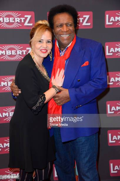 Roberto Blanco and his wife Luzandra Strassburg during the Lambertz Monday Night 2018 at Alter Wartesaal on January 29 2018 in Cologne Germany