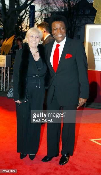 Roberto Blanco and his wife Mireille arrive at Radio Regenbogen Award 2005 at Schwarzwaldhalle on March 18 2005 in Karlsruhe Germany