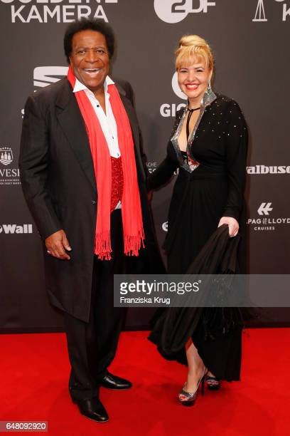 Roberto Blanco and Luzandra Blanco arrive for the Goldene Kamera on March 4 2017 in Hamburg Germany