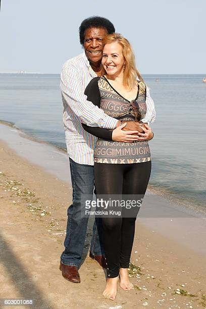 Roberto Blanco and Luzandra Blanco attend the Till Demtroders CharityEvent 'Usedom Cross Country' on September 11 2016 near Heringsdorf in Usedom...
