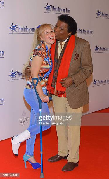 Roberto Blanco and Luzandra Strassburg attend Holiday on Ice 'Passion' Gala at Hotel Atlantic on October 30 2014 in Hamburg Germany