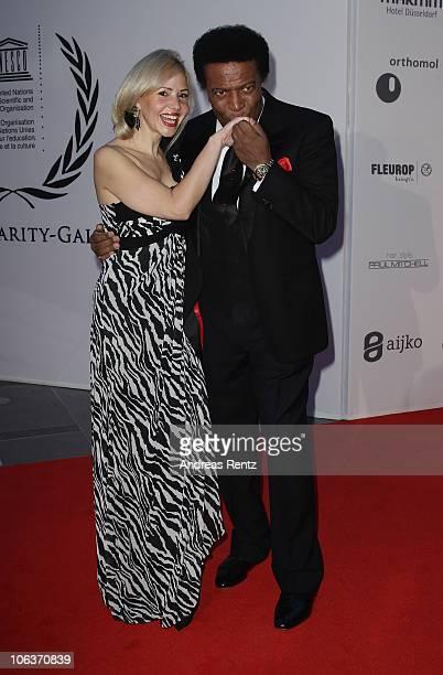 Roberto Blanco and Luzandra Strassburg attend the UNESCO CharityGala 2010 at Maritim Hotel on October 30 2010 in Duesseldorf Germany