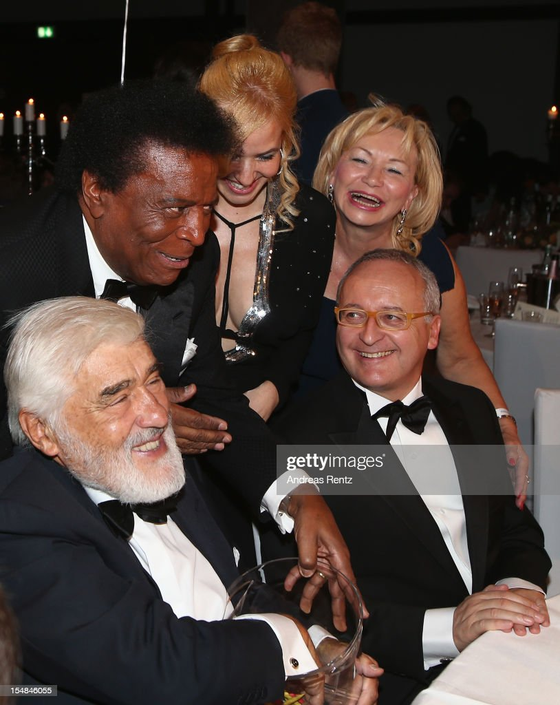 Roberto Blanco and Mario Adorf attend the 21st UNESCO Charity Gala 2012 on October 27, 2012 in Dusseldorf, Germany.